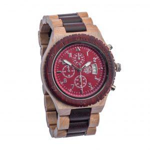 timer-rood-houten-horloge
