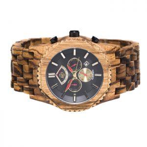 eXtreme kinetisch houten horloge met datumaanduiding